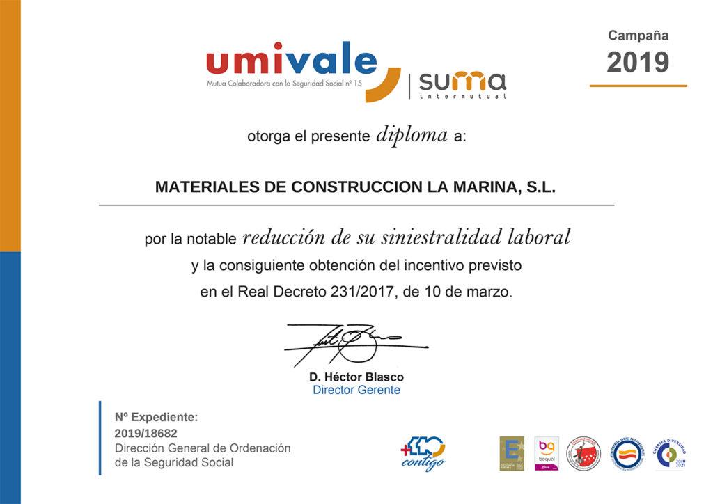 ¡Nos han certificado como empresa segura! - BigMat Roca - La Marina