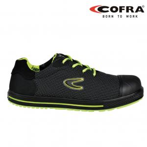 Cofra Dribble - calzado de seguridad, plantilla antiperforación no metálica, nseguridad S3 SRC negro/amarillo fluorescente