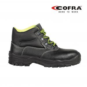 Cofra Bota Riga - calzado de seguridad S3 SRC de piel imprimida hidrófuga, plantilla de acero INOX, sintético transpirable