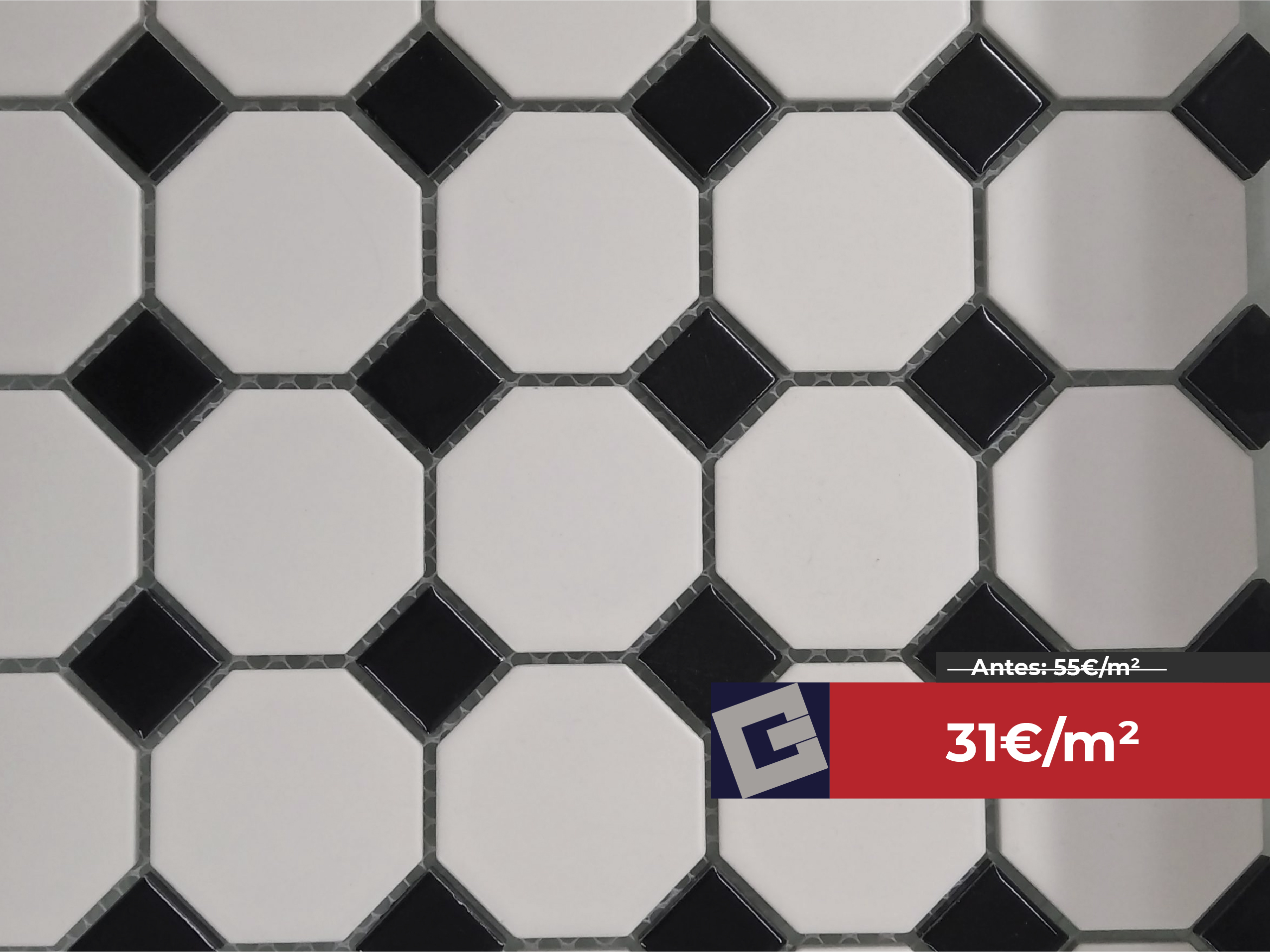 Gres porcelánico Dune Oxford Black 29,5×29,5cm