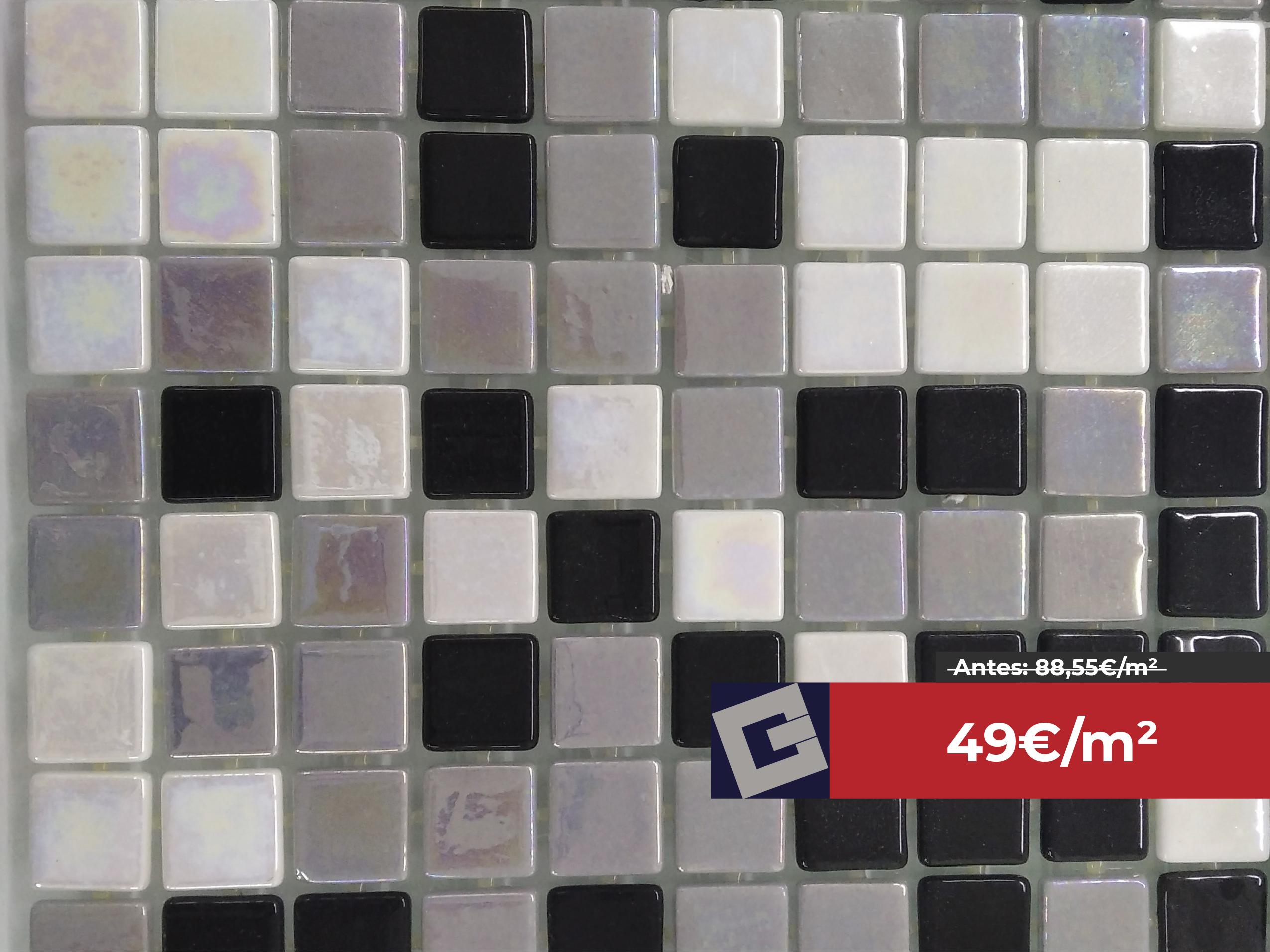 Gresite mix Togama gris-blanco-negro 2,5×2,5cm