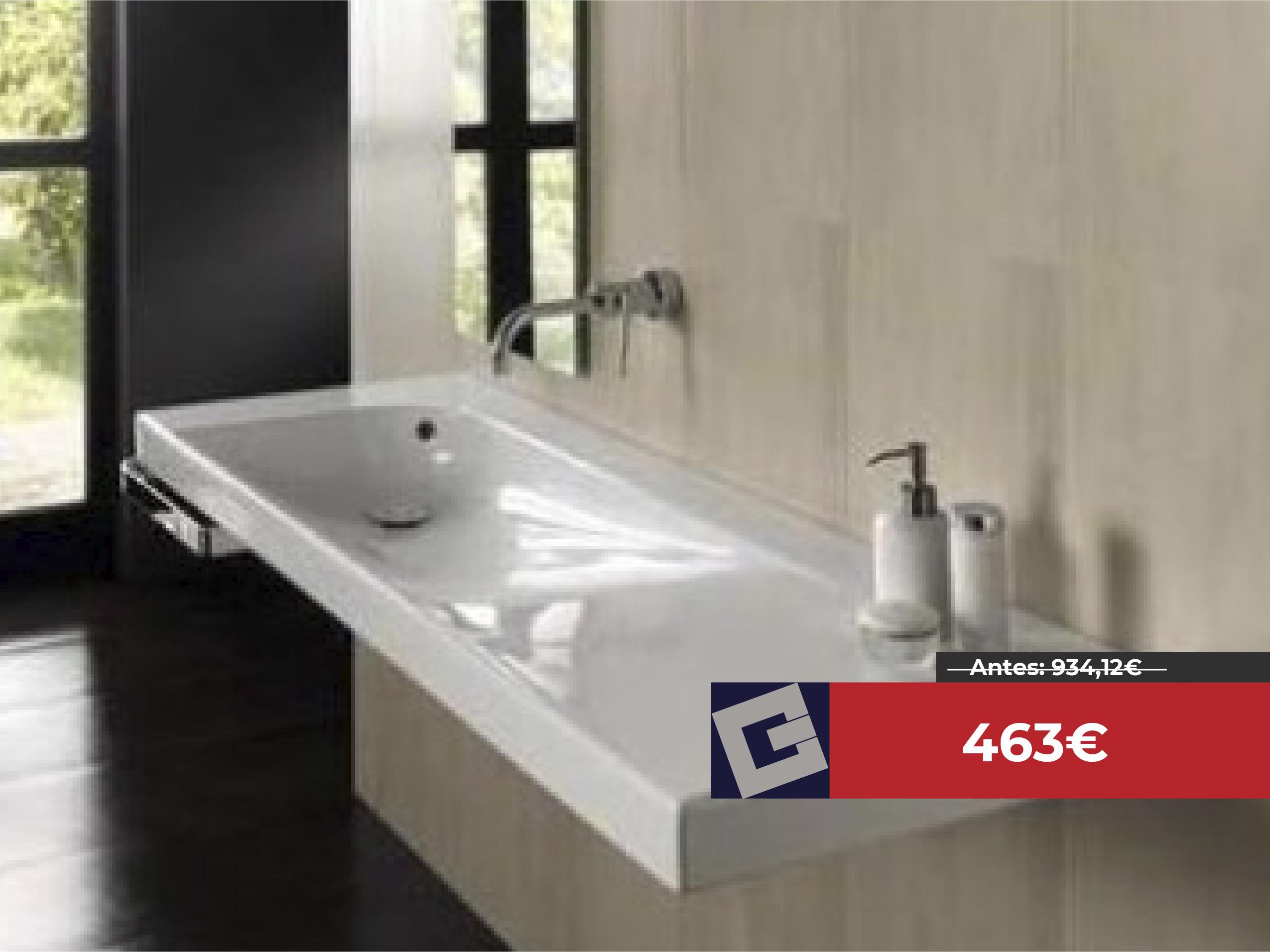 Lavabo rectangular Hatria Grandangolo 100x50cm blanco